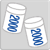 2000ml × 2 cups (3kg)